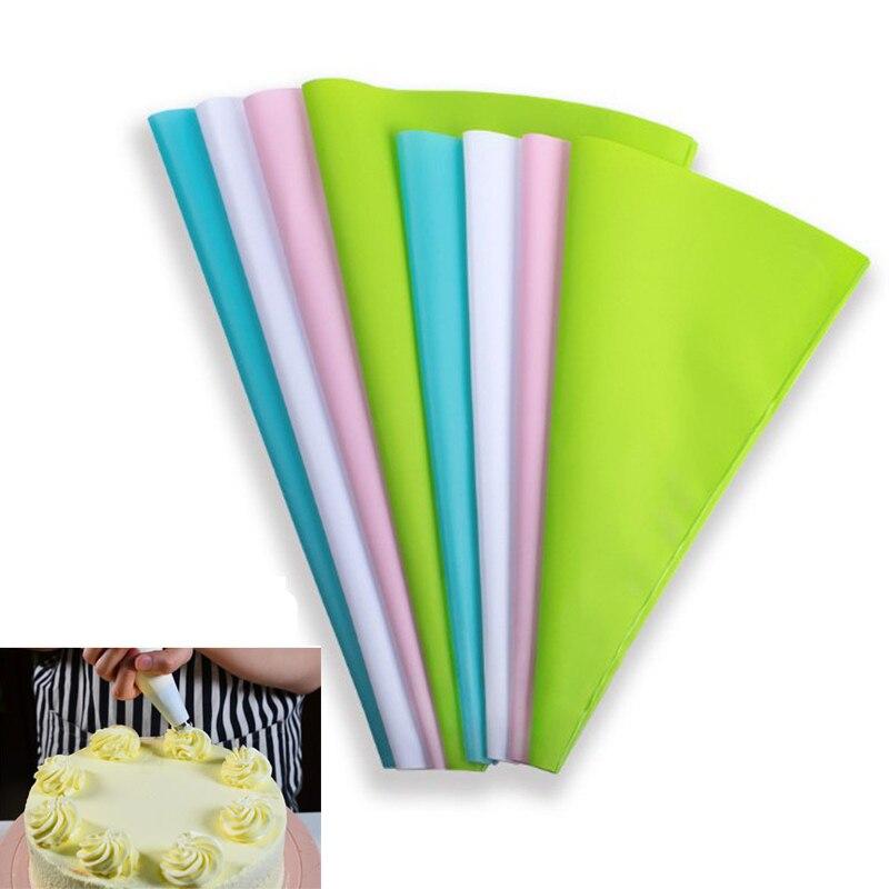4 tamaños de confitería bolsa de hielo de bolsa de crema pastelera boquilla DIY pastel utensilios de decoración para hornear accesorios de cocina