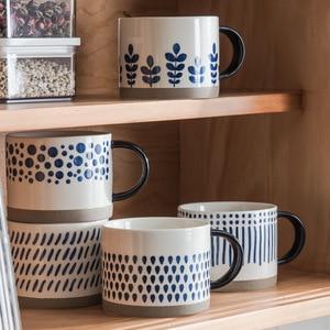 Ceramic household breakfast mug mug Large capacity household ceramic water cup coffee cup milk oat cup drinking cup