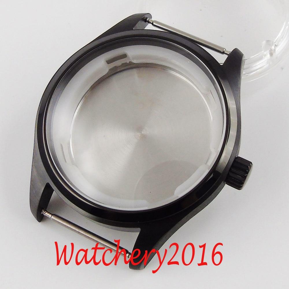 40mm Corgeut szafirowe szkło PVD powlekane etui na zegarek pasuje do ruchu NH35 NH35A NH36