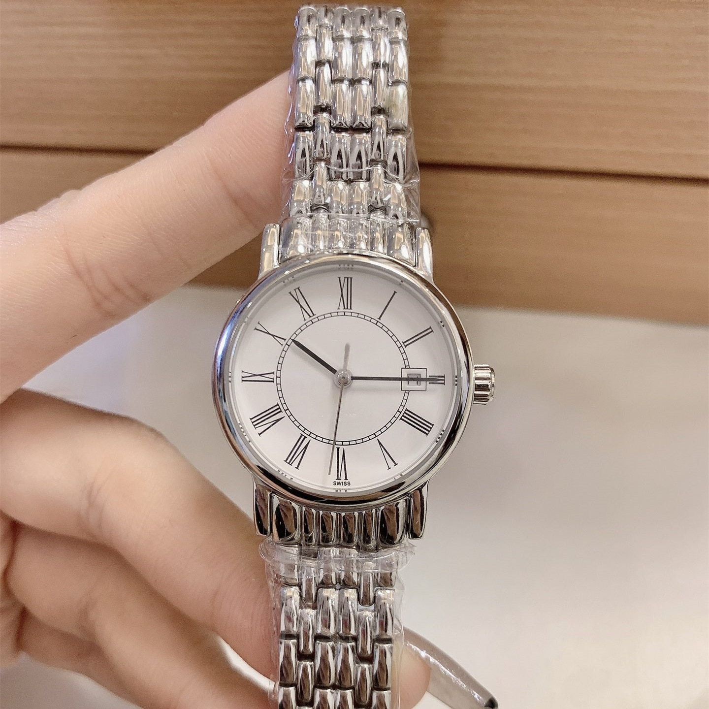 Ladies Stainless Steel Watch Watch Fully Automatic Mechanical Watch Exquisite Sapphire Stainless Steel Waterproof Watch enlarge