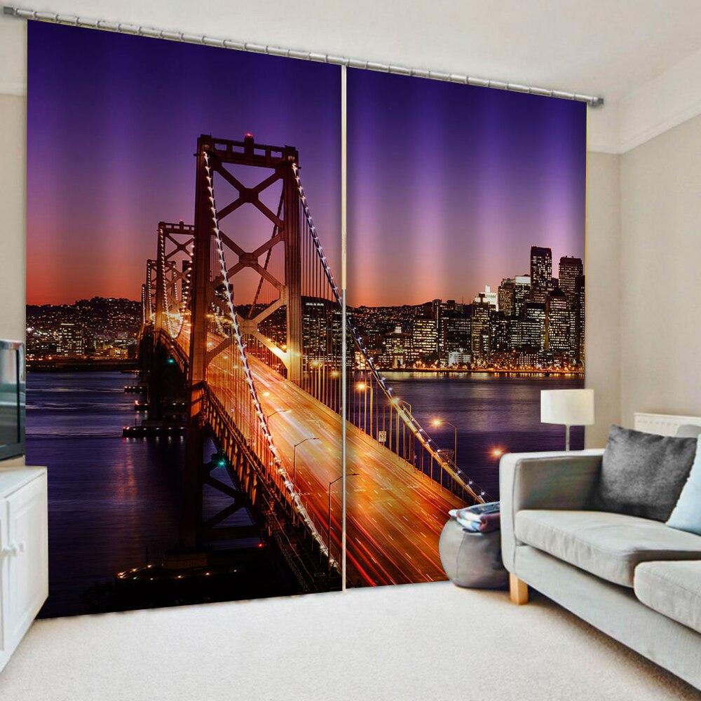 ستائر تعتيم فاخرة ثلاثية الأبعاد لنوافذ غرفة المعيشة ، حجم مخصص ، ستائر للرؤية الليلية
