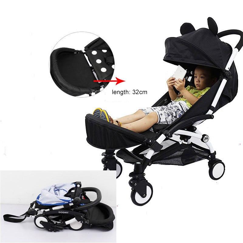 Carrito de bebé, soporte de pie para cochecito, reposapiés para bebé, extensión de pies para cochecito, accesorios para cochecito