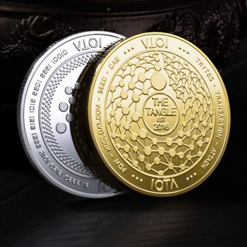 Pièce de monnaie en or IOTA The Tangle-TRYNSACTION-ATTACH, cryptomonnaie