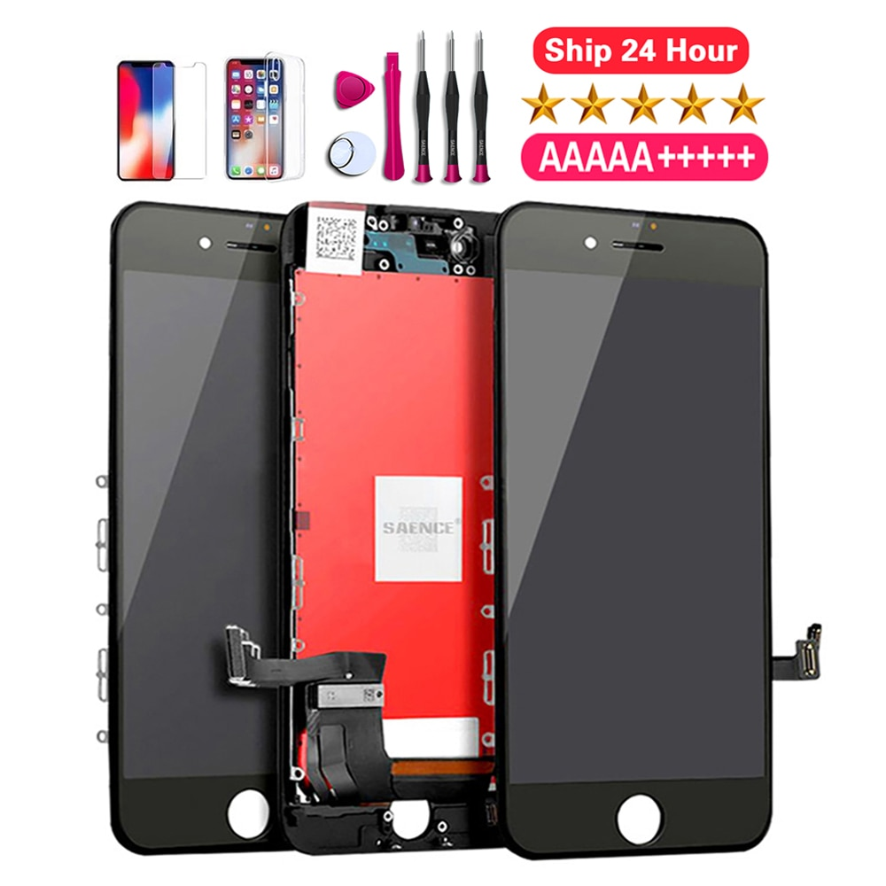 AAA+++LCD Display For iPhone 6 7 8 6S Plus X XS XR XSMAX Touch Screen Replacement No Dead Pixel+Tempered Glass+Tools+TPU Quality enlarge