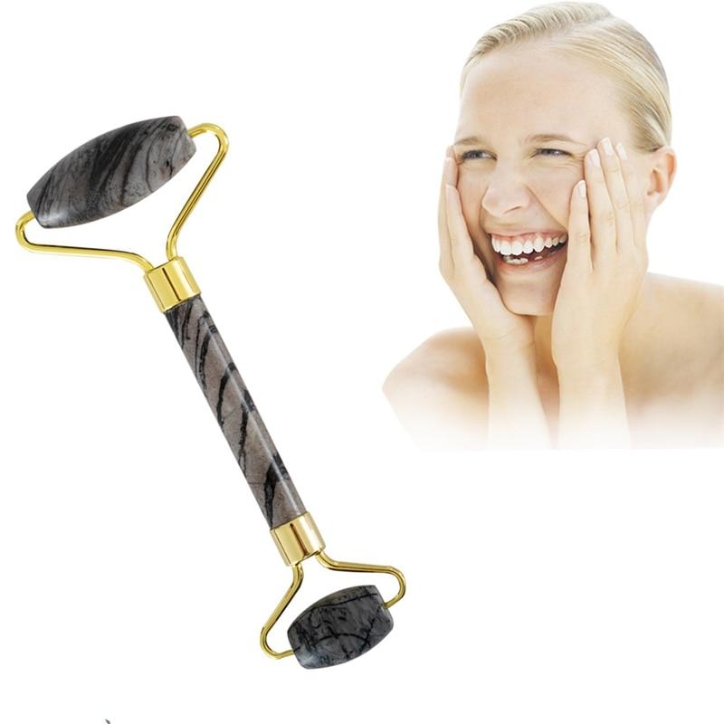 Jade masajeador Facial de rodillos portátil rodillo para masaje Facial eliminación de arrugas herramienta de elevación rodillo con caja