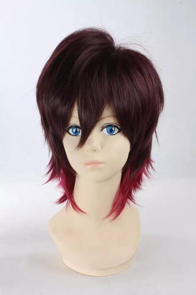 Anime AMNESIA espinillera corta Cosplay peluca + peluca Cap