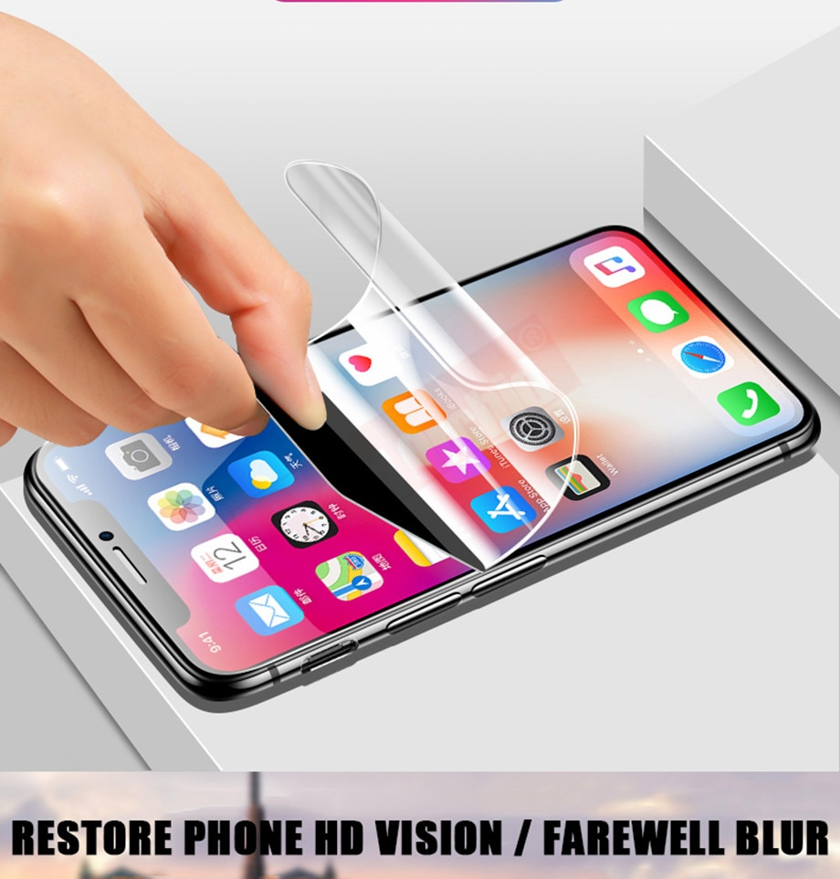 For 0.15mm film for iphone 7 11 pro max xr screen protector iPhone 8 7 Plus 6 6s Plus X xsmax Screen Protector film iPhone X 11