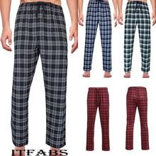 Men's Loose Sleep Bottoms Plaid Flannel Lounge/Pajama PJ Pants Size M-2XL Bottoms Casual Pants Sleep