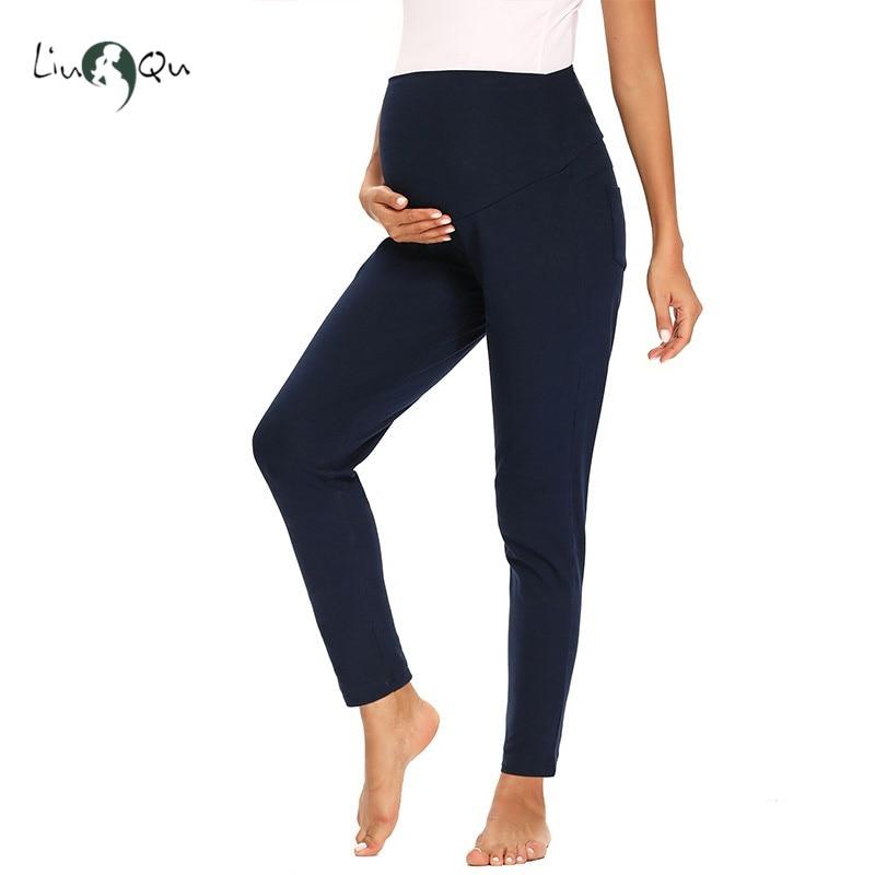 Брюки для беременных женские эластичные укороченные Леггинсы для беременных очень удобная одежда для беременных