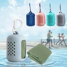 1 pièces séchage rapide serviette Gel de silice microfibre glace Pack voyage en plein air Portable Gym Sensation de froid sport serviettes de natation