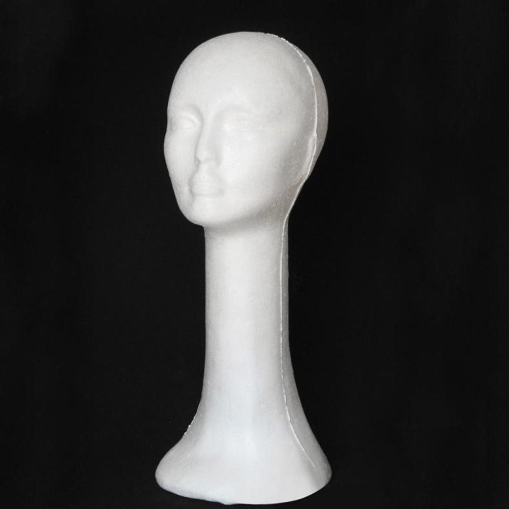 Foam Female Human Head Long Neck Mannequin Wig Hat Glasses Display Stand Model Home craft decoration