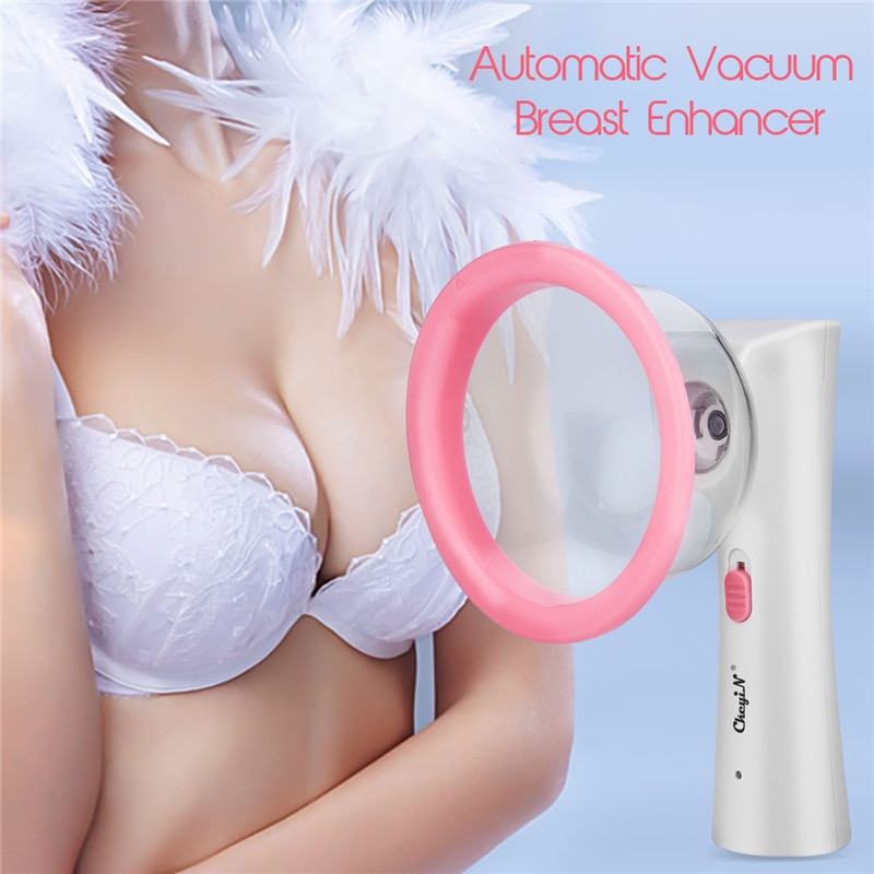 Electric Breast Massager Enhancement Enlargement Chest Massage Therapy Vacuum Scution Pump Cup Growt