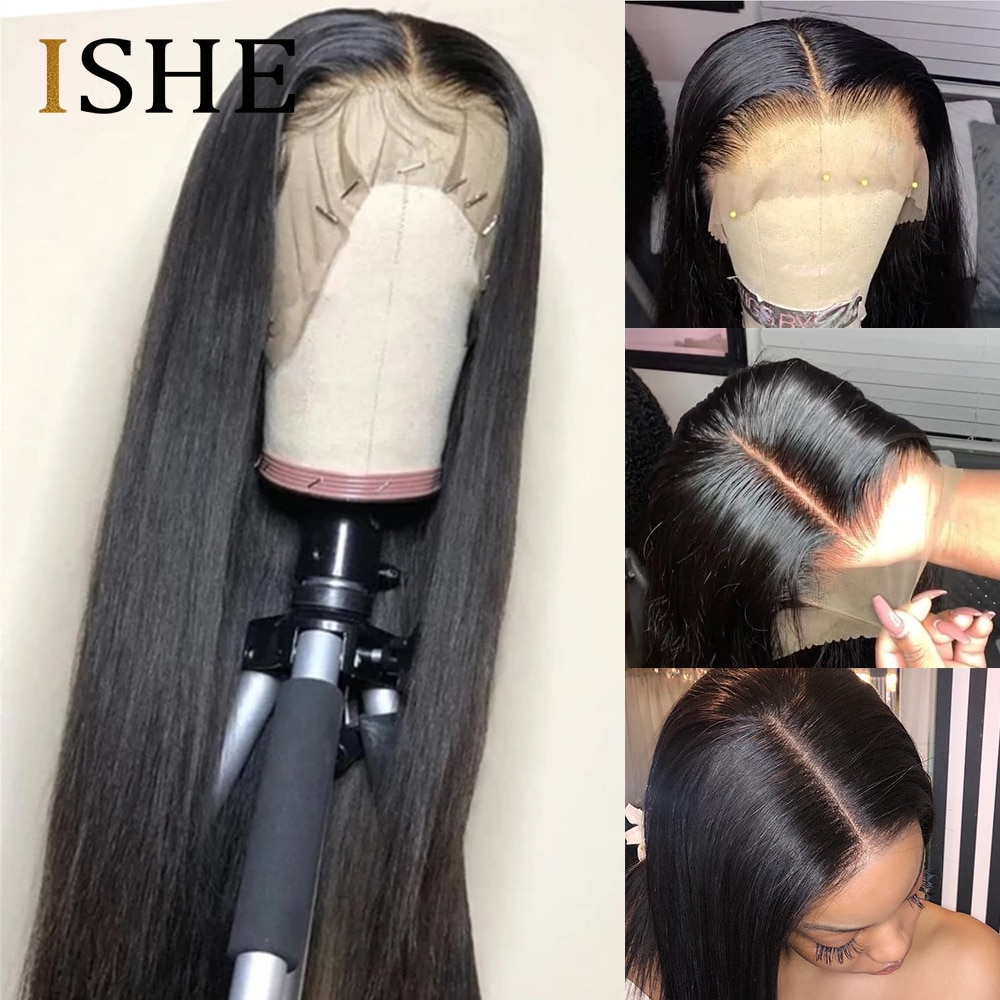 Invisible Lace Front Wigs Transparent Lace Wigs Undetectable Lace Wig 250 Density Lace Front Human Hair Wigs Straight Hair Wig