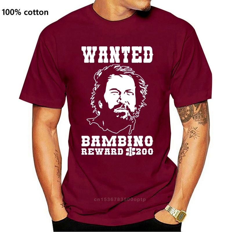 New 2021 Fashion T Shirt Graphic Letter 2021 T SHIRT Italian cult movie Bud Spencer Shirt Funny wanted T Shirt