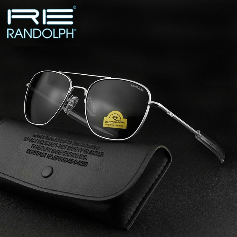 Top Quality America Army Military Pilot RE Sunglasses glass Lens Man Woman Fashion luxury Band Sun G