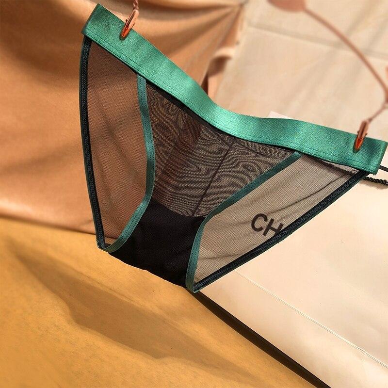 3 шт. ультратонкие сетчатые трусики для женщин, заманчивое нижнее белье, ажурное дамское нижнее белье, женские кружевные трусики, трусики