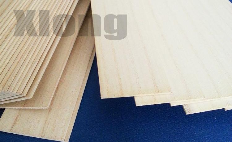 40pcs 6*50*100mm Model Construction Materials Light Wood Strips Paulownia Wood Chips DIY Thin Wood Boards