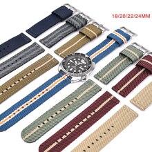 Cinturino NATO in Nylon ad alta densità 18/20/22/24mm cinturino Zulu fibbia in acciaio inossidabile accessori militari per orologi da polso