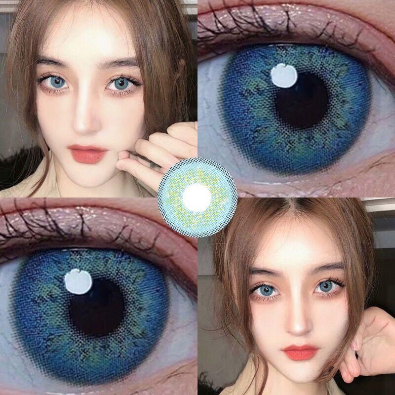 Lentes de contacto de Color azul ruso para ojos Topacio lentes de contacto Color 2 unids/par miopía ruso gris Catseye verde Taylor