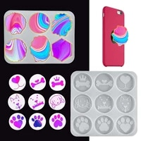 silicon molds diy tools craft casting mould for resin art irregular marble mobile phone holder hair bows accessories decoration