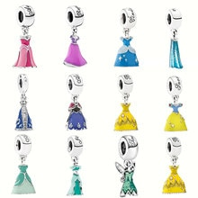 925 Sterling Silver Charm DS enamel Princess dress Suitable for Women To Wear Fit Original Pandora B