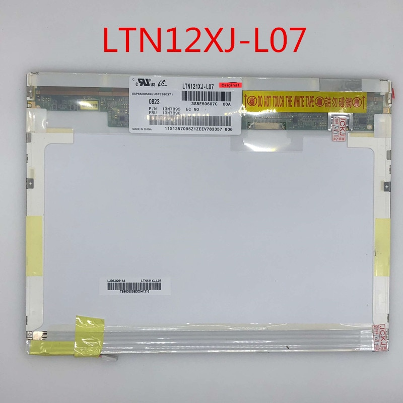 Para IBM x60 x61 Laptop tela LCD ltn121xj l07 l05 LTN121XJ-L07 ltn121xj-l05 LTN121XJ-L02 N121X5-L06 N121X5-L01 display de Matriz