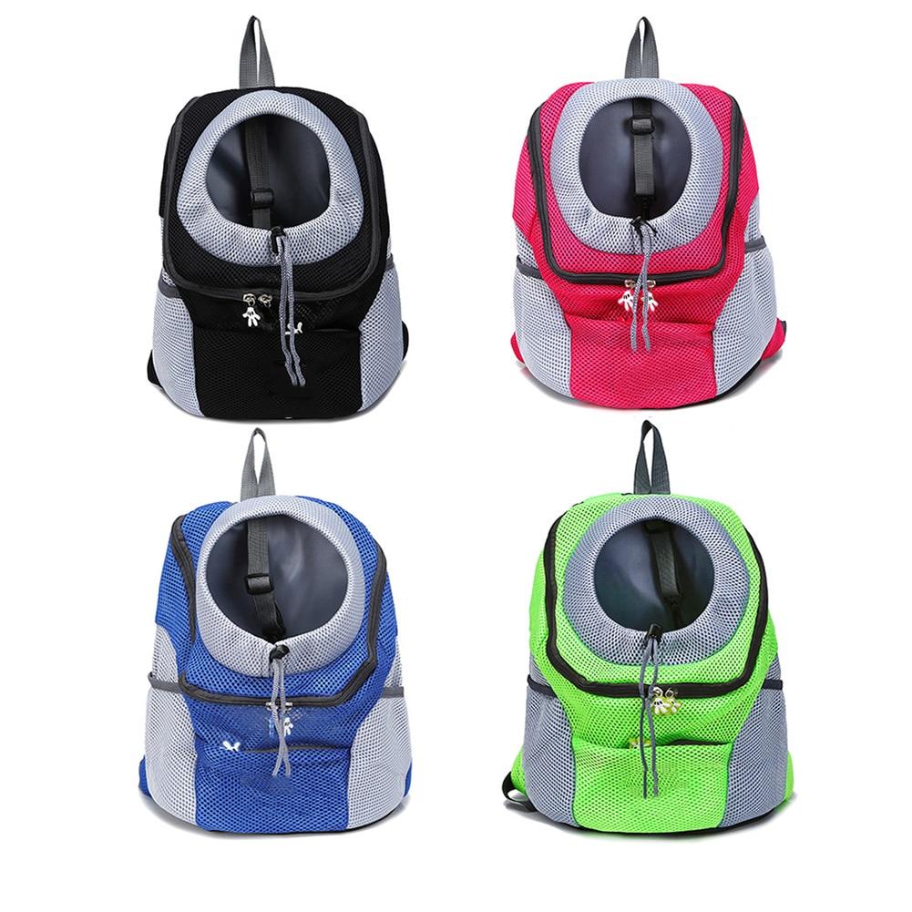 Pet Carrier Backpack Double Shoulder Portable Travel Backpack Breathable Outdoor Pet Cat Dog Carrier Front Bags Mesh Backpack
