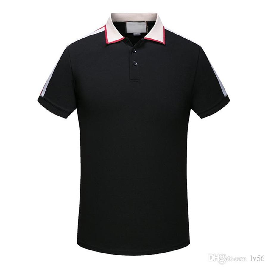 fashion 2020 new Italy Brand Designer Medusa Polo Shirts Men Fashion embroidery Snake Tiger Neck Print Luxury Casual Cotton