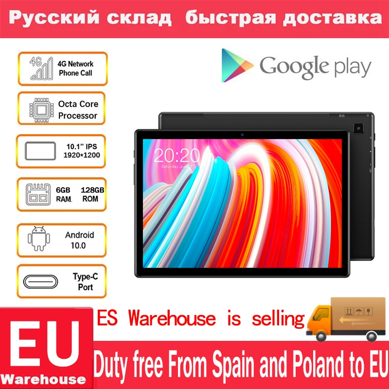 Teclast M40 Android 10.0 4G Network Phone Tablets 10.1inch Octa Core Dual 1920 x 1200 6GB RAM 128GB