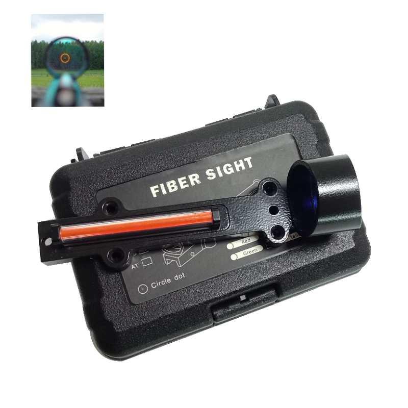 Tactical Fiber Optic Aiming Range Holographic Sight for Shotgun Rib Railway Hunting Shot for Glock for Real Weapon Equipment