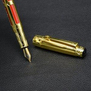 1Pc luxury Business Iraurita Fountain Pen Yongsheng 1168 Metal Golden Clip Ink pen Writing Pens Stationery School Office