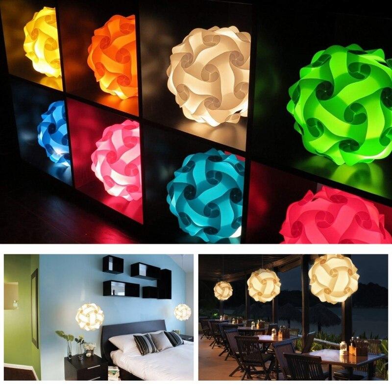 Z tworzywa sztucznego układanka do samodzielnego złożenia klosz lampy zestaw, nowoczesne IQ światło z oprawa sufitowa kwiat puzzle IQ klosz lampy