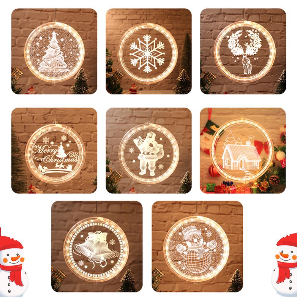 ¡Navidad 2020! Luces colgantes LED QIFU, decoración navideña para el hogar, adornos navideños, regalos de Navidad, Feliz Año Nuevo 2021, Navidad