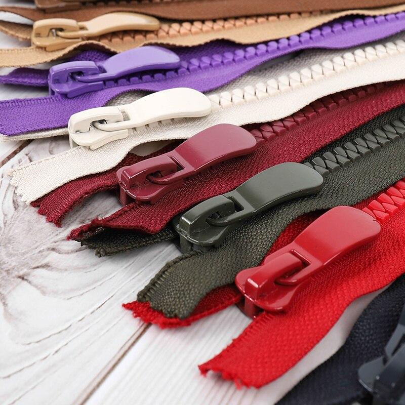 8# 2pcs 20cm resin zipper close-end Auto lock ECO clothing zipper for sewing