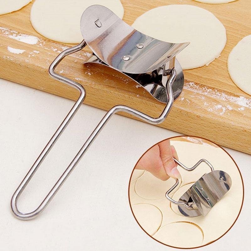 Círculo de acero inoxidable masa molde respetuoso del medio ambiente de espaguetis prensador de masa herramienta para Fideos de piel envolturas casa Pasta