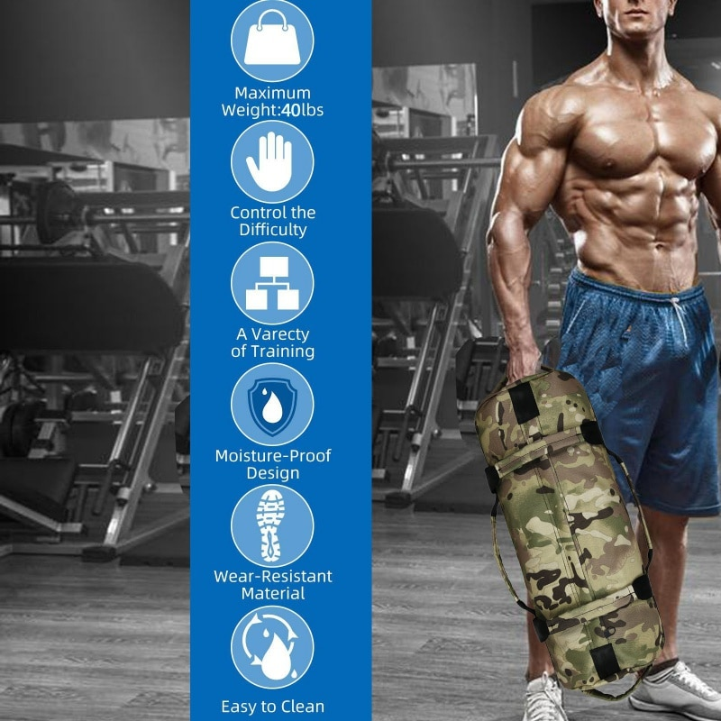 Weight Bags Weightlifting Sandbag Heavy Sand Bag MMA Boxing Military Power Training Body Shaper Fitness Equipment