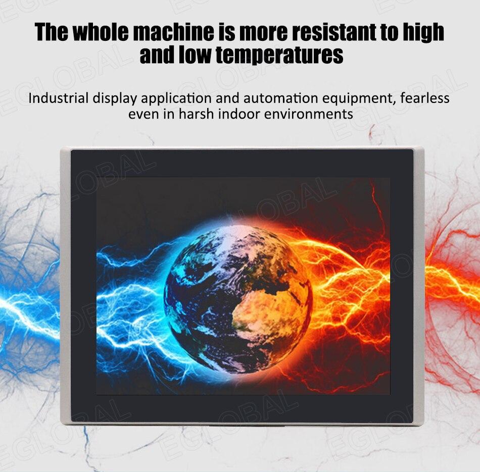 El mejor monitor de ordenador de pantalla táctil Industrial 12,1 Core i5 6360U 7200U i7 7500U A BORDO 8GB DDR3L RAM Windows 10 PC todo en uno
