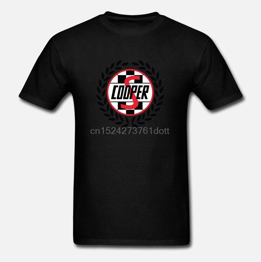 Mini Cooper S etiqueta T camisa clásica 90s racinger logotipo john bandera 1275cc vintage Coche