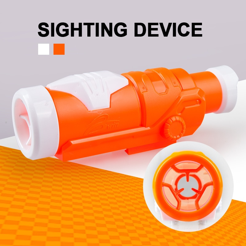 modified part front tube sighting device for nerf elite series orange grey New Hot Sale Toy Sighting Device Toy Muffler Aiming Device For for Nerf Series Blasters Xmas Toy Gun Model