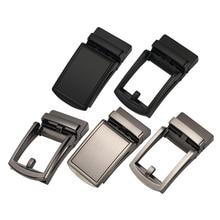 Men's Solid Automatic Belt Buckle Metal Polished Ratchet Leather Belt Buckle