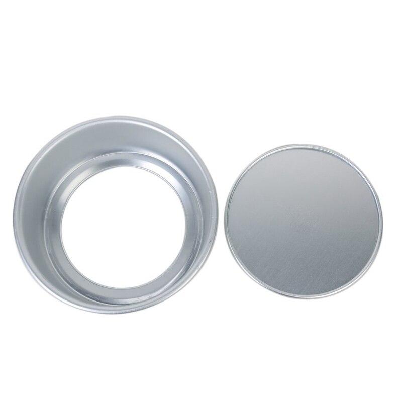6 Polegada Caixa de Sanduíche de Bolo Pan Estanho Molde de Cozimento Redonda Profunda Solto Base Inferior de Alumínio