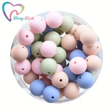 20 PCS Round Silicone Beads 9-15 MM Baby DIY Teething Beads Necklace Pacifier Chain Bracelet Teether