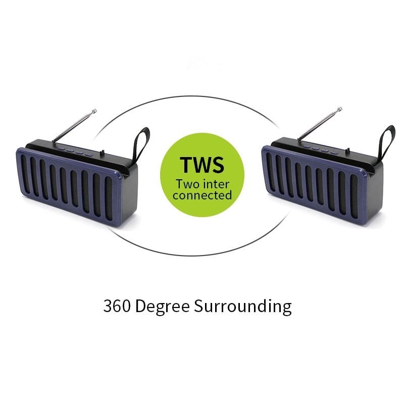 Portable Bluetooth Speakers TWS Wireless Speaker Outdoor FM Sound Bar Surround Deep Bass Subwoofer Waterproof TWS Home Speaker enlarge