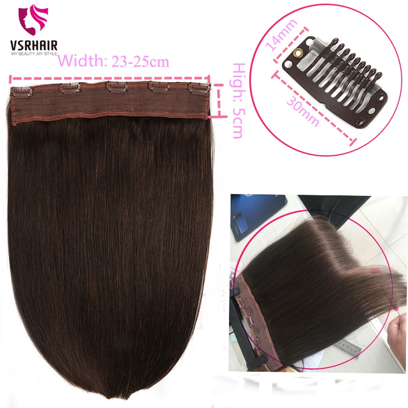 VSR #23 Clip-in One Piece  Limited Promotion Lowest Price 60g 70g 100g 150g STOCK Within 48 hours Halo Human Hair Extensions