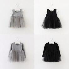 Robes Sun Moon pour filles   Vêtements Tutu à manches longues, en Tulle, vêtements de princesse pelucheux