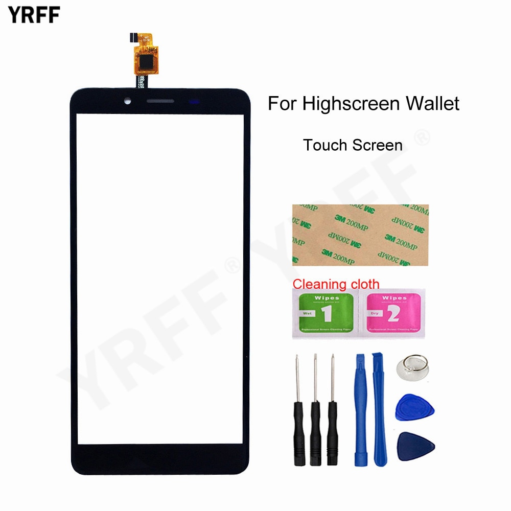 Touch Screen For Highscreen Wallet Touch Screen Digitizer Glass Panel Sensor New Mobile phone accessories
