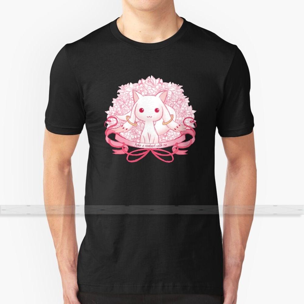 Kyubey T - Shirt Männer Frauen Sommer 100% Baumwolle Tees Neueste Top Beliebte T Shirts Madoka Magica Madoka Magica Kyubey qb Magische