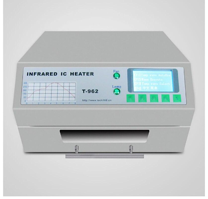 Calentador IC infrarrojo PUHUI T-962 T962 de escritorio, horno de reflujo de soldar BGA SMD SMT, Estación de Reparación T 962, horno de ondas de reflujo