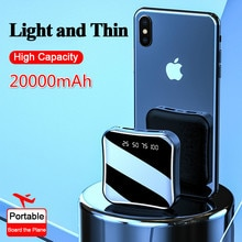 For iphone Samsung Xiaomi powerbank Mini 20000mAh Power Bank Full Screen Digital Display Fast Chargi