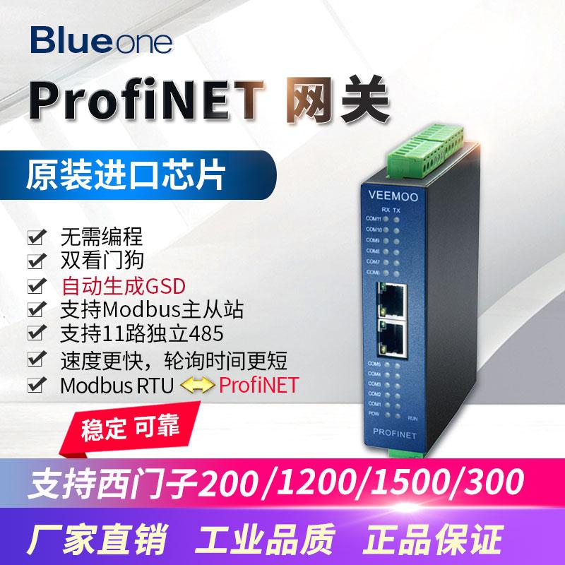 Gateway Modbus485RTU para Profinet 11-maneira rápida velocidade de aquisição síncrona sem programação